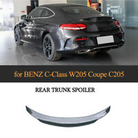 Spoiler Carbon Heckspoiler Abrisskante Lippe für Mercedes W205 C205 Coupe 14-19