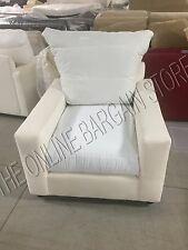 Pottery Barn PB Comfort SQUARE Armchair Chair Knife Poly Cushions NO SLIPCOVER