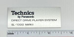 Technics SL-1300 Marke II (Mark 2) Plattenspieler Logo Abzeichen Maßarbeit