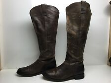 VTG WOMENS DOLCE VITA RIDING LEATHER BROWN BOOTS SIZE 8?