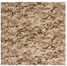 "biker bandana desert digital camo military headwrap cotton 27"" X 27"" rothco 4341"
