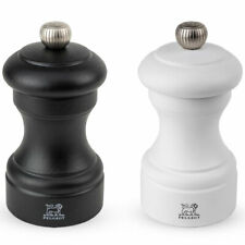 Peugeot Bistro 10cm Salt & Pepper Mill Grinder Set in Matte Black/White 81010SET