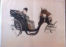 """Sem Goursat lithographie """"Monsieur Yturbe"""" Début XXème siècle"""