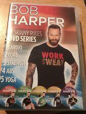 Bob Harper The Skinny Rules 5 DVD Series Cardio Core Strength Abs Yoga  UK Reg2
