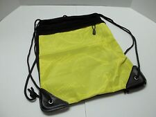 Sport Sackpack with Front Zipper Pocket , Mesh Back Yellow/Black