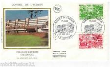 1984**ENVELOPPE SOIE**FDC 1°JOUR**CONSEIL DE L'EUROPE*TIMBRE Y/T 82-83