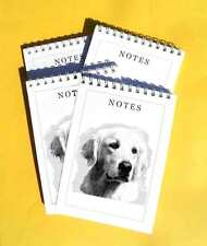 Golden Retriever Pack of 4, A6 Dog Note Pads Gift Set