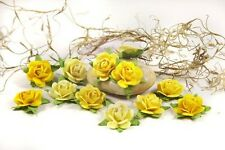 "NEW Prima "" Fairytale Roses Buttercup"" 12 Yellow & Light Yellow Sticker Roses!"