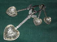 ANGELS & HEARTS   metal LOVE MEASURING SPOONS ...and a pinch of love