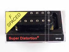 DiMarzio F-spaced Super Distortion Bridge Humbucker Black W/Chrome Poles DP 100