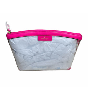 Kate Spade SABINE Clear Medium Cosmetic Bag Pouch Case