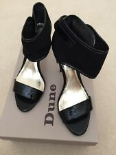 BNWB Black Cuff Shoes By Dune - UK 6 / Eur 39