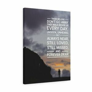 Memorial Remembrance Canvas Forever Dear Love Message Verse Wall Art