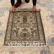 Yilong 2.5'x4' Hand-knotted Silk Area Rug Home Interior Oriental Carpet 008B