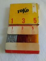 Vintage Toko Downhill Ski Wax Red Silver Yellow. B6