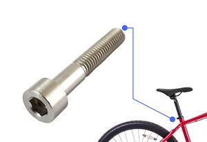 Titanium Seat Post Clamp Bolts - M8x45mm