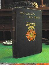 "MCCLELLAN'S OWN STORY 1887 HC/1st Ed. Webster ""Shoulder Strap Series"" Virginia!!"