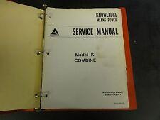 Allis Chalmers Model K Combine Service Manual