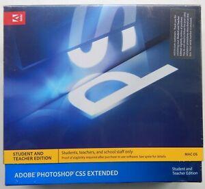 ADOBE PHOTOSHOP CS5 EXTENDED MAC OS STUDENT TEACHER EDITION - NEW, SEALED.