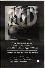 "19/9/92PGN25 THE BEAUTIFUL SOUTH : 36 D ADVERT 7X10"" TOUR DATES"