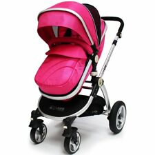 iSafe 2 in 1 Pram System - Raspberry Pink With Rain Cover