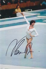Nadia comaneci main signé 6X4 photo roumain gymnaste 6.