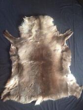 Large, thick reindeer hide/skin fur rug/ throw125x110cm