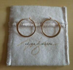 Melissa Joy Manning Demi Fine 14k Gold Hoop Earrings