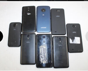 Cell Phone Lot (8) With 4 Fully Functional Units!