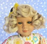 Vintage TAYLOR P. Blond Partial Cap Doll Wig Size 14-15 Thick Texture, Full Vol.