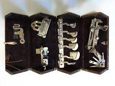 Antique Singer Sewing Machine Oak puzzle box with Attachments