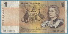 Australian 1982 $1 One Dollar Johnston Stone Note DGX693475