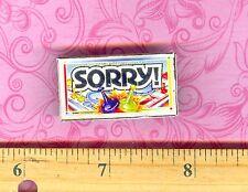 Dollhouse Miniature Size Board Game  SORRY Box