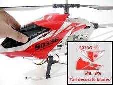 NUEVO Rojo Cola Decoración Aletas Syma S033 s033g RC Helicopter