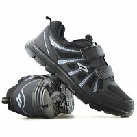 Mens New Casual Touch Strap Walking Running Gym Sports Boys Trainers Shoes Size