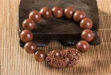 A unique and fashionable gold stone gem handmade beads loong pixiu bracelet
