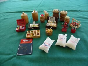 Dollhouse Miniatures Lot General Store Food Fixtures Vintage Some Handmade