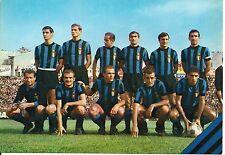 INTER FC  CARTOLINA FORMAZIONE SCHIERATA ANNO 1966 EDIZIONI M/S MILANO