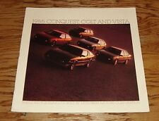 Original 1985 Plymouth Conquest Colt Vista Deluxe Sales Brochure 85