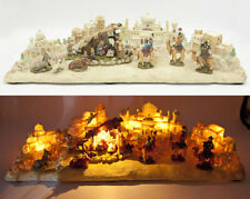 San Francisco Music Box Company Video Large Vintage Nativity Lights Up Music