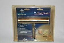 """Westinghouse 7"""" Picture Light - Antique Brass Finish - 75052"""