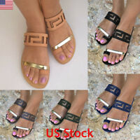 Womens Low Flat Heel Ladies Sandals Flip Flops Slippers Shoes Home Beach Size US