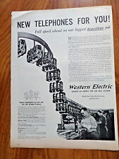 1945 Bell Western Telephone Ad New Phones for You