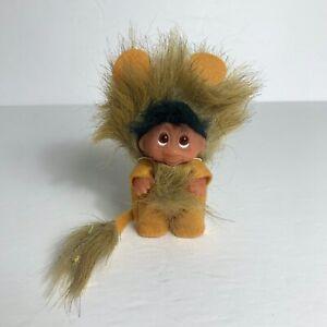 "Vintage Thomas Dam Norfin LEO THE LION Troll Doll  4""  w Tags"