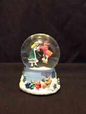 Vintage Enesco Disney Sleeping Beauty Musical Snow Globe Plays Blue Danube Waltz