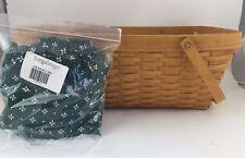 Longaberger 2000 Hostess Treasure Treasures Basket Combo Heritage Green