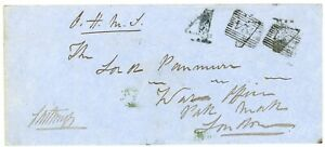 """SCOTLAND Rare 1857 with THURSO """"4"""" Postage Due handstamp. Only 1 known"""