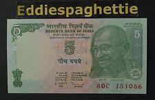 India 5 Rupees 2011 Letter R UNC P-94Af
