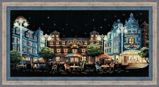 NEW RIOLIS COUNTED CROSS STITCH KIT REST IN NIGHT CAFE