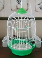 Small Dome Bird Cage With Perch, Swing, 2 Feeders 91/2 L x 91/2 W x 17 H NEW